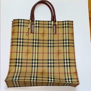 "Burberry vintage shopper tote size: 14"" x 15"""